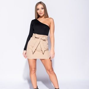 Tan Belted Skirt